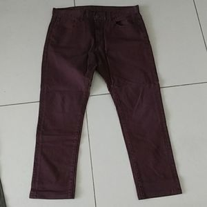 American Eagle Core Flex. Burgundy Jeans 33/28